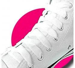 Lacets velours blanc