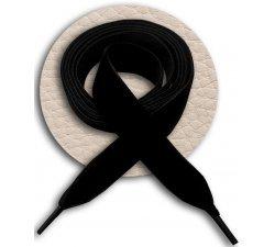 Lacets larges en velours noir
