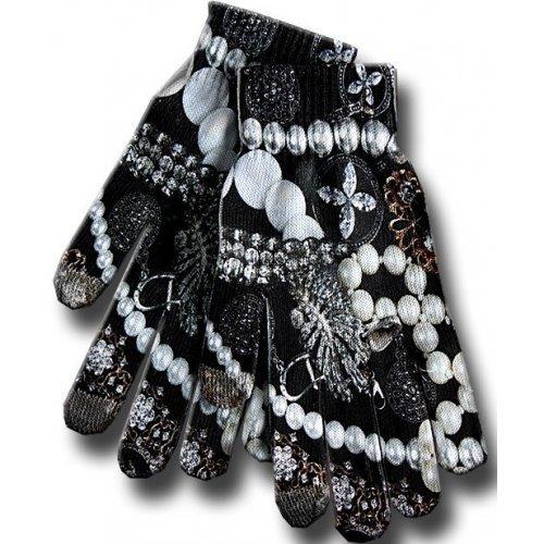 gants tactiles chats perles