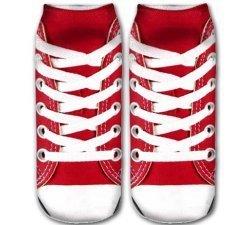Socquettes baskets rouges 3D