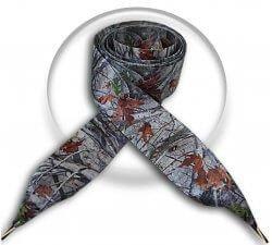 Lacets XL en satin gris automne