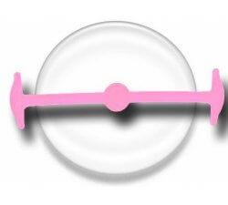 Lacet silicone élastique rose pâle