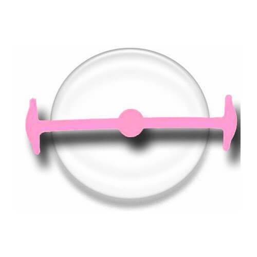 Lacet silicone sans clip rose pale