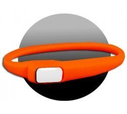 Lacet extensible en silicone orange fluo