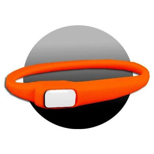 Lacet extensible en silicone orange fluo