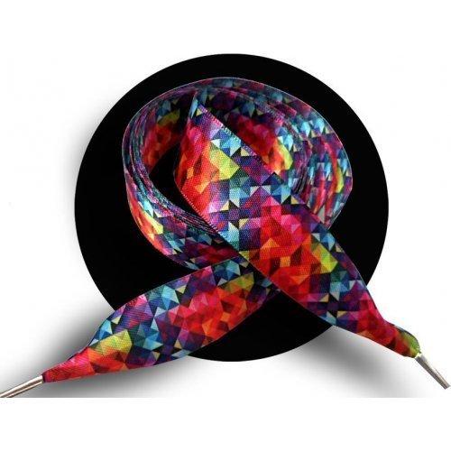 Lacets XL en satin prisme coloré