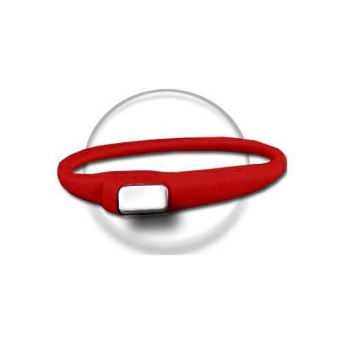 Lacet extensible en silicone rouge