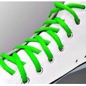Lacets fins ronds en vert fluo