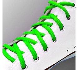 Lacets ronds verts fluos