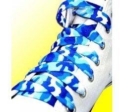 Lacets camouflage bleus