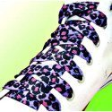 Lacets panthère / léopard en violet noir rose