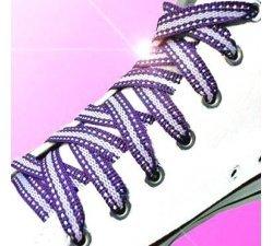 Lacets violets et argentés