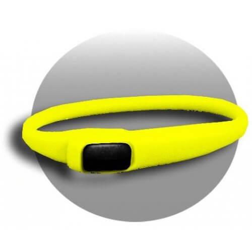Lacet extensible en silicone jaune