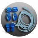 Lacets élastiques bleus pâles sans noeud