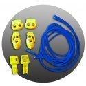 Lacets élastiques en bleu électrique sans noeud