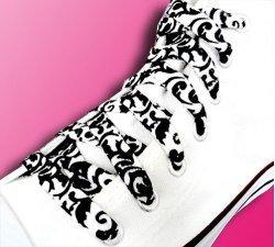 Lacets baroques noir blanc