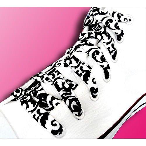 Lacets baroques noirs et blancs