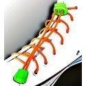 Lacets élastiques en orange fluo sans noeud