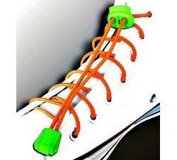 Lacets élastiques en orange fluo