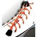 Lacets élastiques en orange