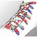 Lacets drapeaux du monde