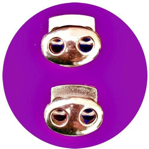 Bloqueurs-stoppeurs de lacets métal doré