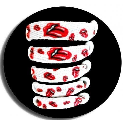 Lacets rock blancs et rouges