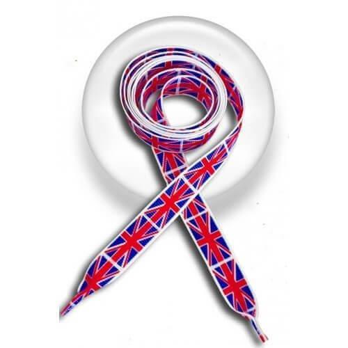 Lacets drapeaux UK Union Jack