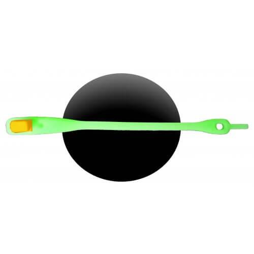 Lacet silicone vert phosphorescent