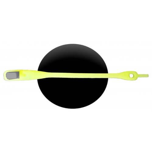 Lacet silicone jaune phosphorescent