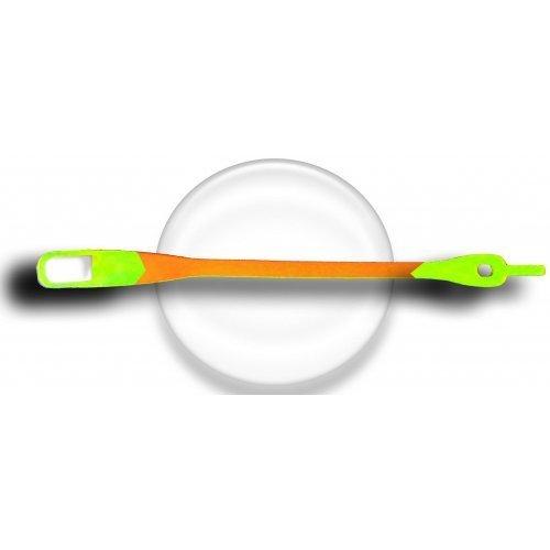 Lacet silicone mixé orange et vert fluos