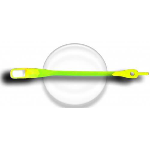 Lacet silicone mixé vert et jaune fluos