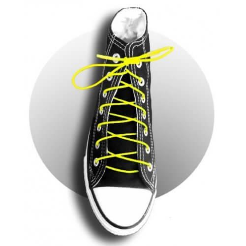 Lacets élastiques jaunes fluos