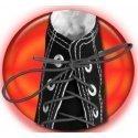 Lacets élastiques noirs à nouer