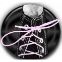 Lacets élastiques rose pâle à nouer