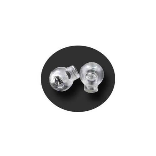 Bloqueurs-stoppeurs de lacets boules transparents