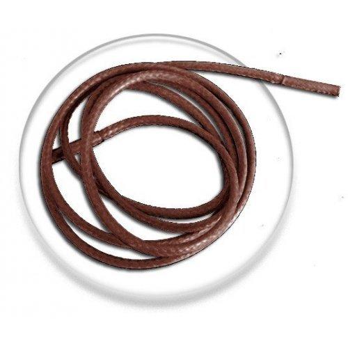 Lacets fins cirés marron chocolat