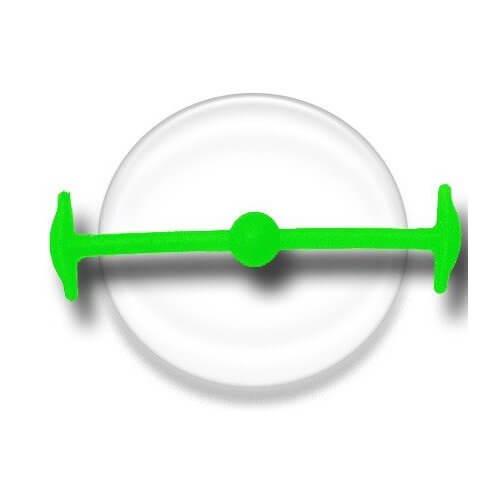 Lacet silicone élastique vert fluo