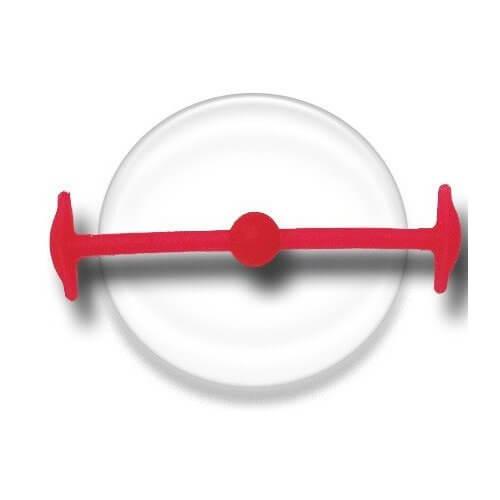 Lacet silicone élastique rouge