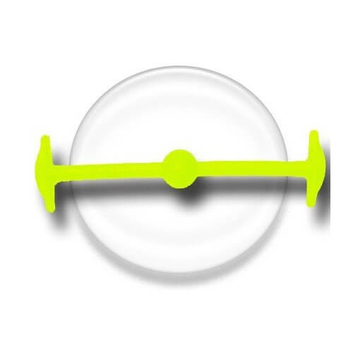 Lacet silicone élastique jaune fluo