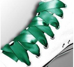 Lacets ruban satin vert émeraude