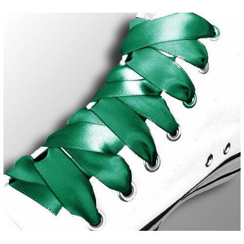 Lacets en satin vert émeraude