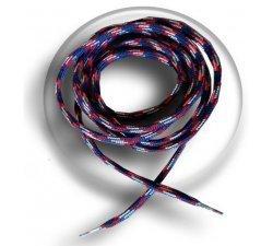 lacets ronds bleu blanc rouge mixés
