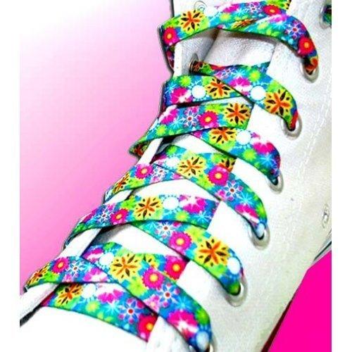 Lacets petites fleurs multicolores liberty