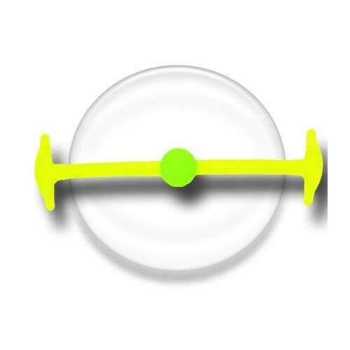 Lacet silicone élastique jaune & vert fluos