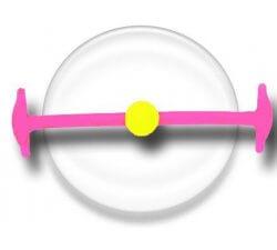 Lacet silicone élastique rose & jaune fluos