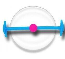 Lacet silicone élastique bleu & rose fluo