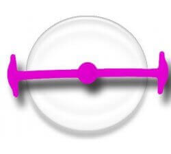 Lacet silicone élastique violine