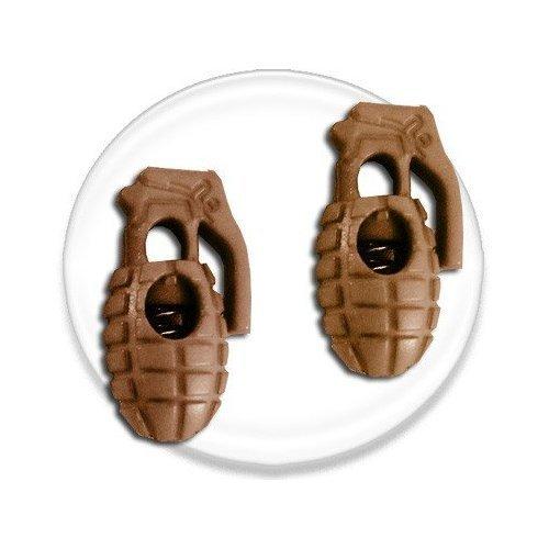 Bloqueurs-stoppeurs de lacets Grenades Marrons