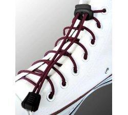 Lacets élastiques bordeaux sans noeud